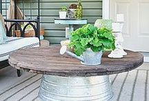 Porch Decorating Ideas / There are so many wonderful ways to decorate with porch decor to reflect both your home's personality and your own! Look though our many pins to find ideas and inspiration for your front, back, side, or screened porch. #frontporchdecorating #frontporchdecoratingholidays #porchdecor #porchfurniture