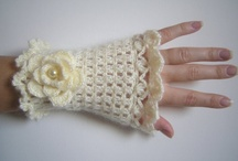 Crochet Gloves And Wrist Warmers