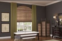 Woven Wood Shades / Woven wood shades are handcrafted from rattan reeds, grasses and natural woods that add a unique natural beauty to your home unlike any other type of window covering. They are made from 100% organic materials, making them environmentally friendly window treatments and completely recyclable.