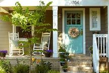 Cute Cottage Style Porches / What is a cottage without a porch? They go hand-in-hand as these examples prove and encourage lots of porch rockin.' / by Mary @ Front Porch Ideas and More