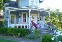 Victorian Porches / Victorian porches are one-of-a-kind, aren't they? Beautiful painted or not, full of trim or plain we bet they'll steal your heart. / by Mary @ Front Porch Ideas and More