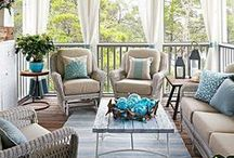 Summer Porch Decor Ideas / Flowers, fun colors, and warm weather beckon us to the porch for the lazy summer months - find summer porch decorating ideas to inspire you.  #summerporchdecorating #porchdecorating #