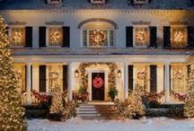 Christmas Lights Parade / Enjoy looking at these beautiful outdoor Christmas lights from the warmth and comfort of your home - no foggy car windows to obscure the view! Then be inspired to add a few lights to your own Christmas decorations. / by Mary @ Front Porch Ideas and More