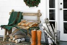 Winter White Porch Decor / Our board dedicated to AFTER Christmas porch and outdoor decorating! Here you'll find lots of January decorating ideas with a snow and white theme. / by Mary @ Front Porch Ideas and More