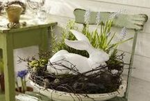 Easter Outdoor Decor / Decorating ideas for your porch, entry, and surrounding landscape for Easter. / by Mary @ Front Porch Ideas and More
