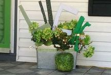 St. Patrick's Day Porch Decor / Add a 'touch 'o the green' to your porch and front door to celebrate the Irish in all of us! / by Mary @ Front Porch Ideas and More