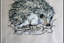 Free Motion embroidery / Free motion sewing / by Urpha Hallman