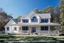 House Plans With Porches / All of the best house plans that feature porches - big, small, and everything in-between! Find the perfect plan for your family whether it be a farmhouse or contemporary home - with a porch of course!  #houseplansonline #houseplansporches
