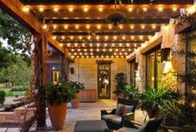 Outdoor Lighting Ideas / Outdoor lighting examples and inspiration for front porches of all designs and yard structures. #outdoorlighting #frontporchideas