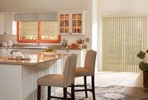 Vertical Blinds / When opened, vertical blinds can be stacked tightly to the side allowing you to take full advantage of your view. When closed, they effectively block incoming light so you can have a more comfortable rest period with a higher level of privacy.