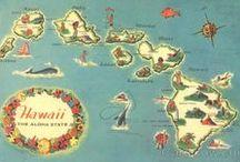 Aloha / Hawaiian islands...Passion fruit, waterfalls, tiare leis, luaus, salt water...paradise!