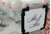 Dramatic Black & White Candy Buffet Bar / Sweetie Station / Wedding Inspiration