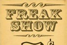 Freak show banners / by Brenda Crawford