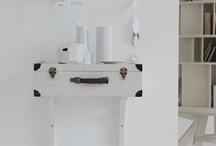 thuis met Moon * suitcase / nieuwe toepassingen met oude koffers