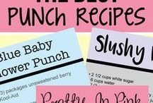 "Baby Shower Punch Recipes / Delicious and easy baby shower punch recipes including the famous ""Pregnancy Punch"""