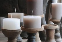 thuis met Moon * candle holders