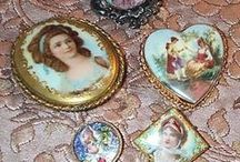 """::: Buttons • Brooches • Ditali • Thimbles / by """"Basilico & Patchouli"""""""