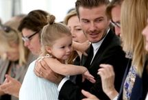 David Beckham and Harper Seven Beckham