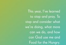 Lessons from FH Leadership / We are so grateful for the people who God has put on our leadership team over here at FH! We asked them to reflect on 2015 and give us the best lessons they have learned. These leaders have gone to the hard places to help end poverty and they are world changers! Here is what they had to say: / by Food For The Hungry