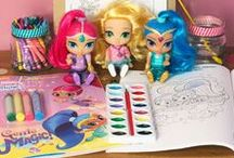 Genie Wish List / Nickelodeon's Shimmer and Shine is an adorable animated preschool series all about the adventures of genie-in-training twin sisters Shimmer and Shine and their human best friend, Leah. It's a magical show full of fantastical adventures that teach the importance of friendship, teamwork, and resilience. There's a whole new collection of toys, clothes, books, DVDs, and more items straight out of genie world, Zahramay Falls, that my family's excited to start playing with!