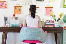 Home workspace inspiration / Decorating & Organizing Inspiration for My Home Office