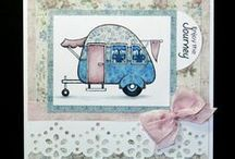 Vehicles / Cards created with Beccy's Place digital stamps.