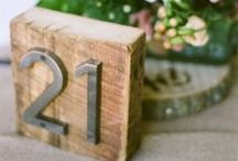 Table Numbers / by Green Ribbon Parties
