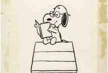 Snoopy / A board of Snoopy because he makes me smile, every time.