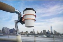 Cup Holder / The Cup Holder is easily attached to the bicycle thanks to the clever spring steel construction. Open the spring by pressing the rings together, place it on the handlebar and let go. The Cup Holder clamps down on the handlebars and sits firmly in place never losing grip even during rides over bumps and potholes.  The Bookman Cup Holder can be flipped and used with either the smaller ring or the lager ring depending on cup size.  Only suitable for cups not bottles.