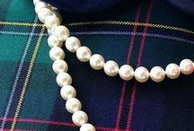 Plaids and Pearls make me Happy / Plaids and Tartans make me Smile