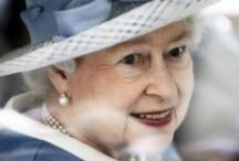 Her Magesty / I met someone on a bus once from England that had seen the Queen up close and said she was a real beauty in person with the most beautiful skin ever.  I love her jewels!  Can you even imagine their worth?  And what about ALL those HATS!! / by Paula Rosenberg