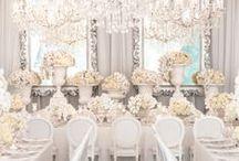 A winter wonderland wedding- decor / by Heather Thompson