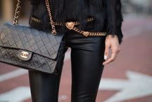 Black on Black - Street Style / Black goes with Black, and if it comes in Black.. I want it.