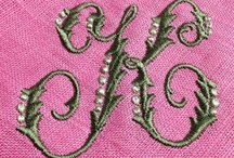 Monogramming / Monogramming ideas and some of our very own work that we have done for clients!