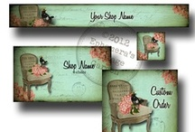 Etsy Shop Chic / This board is a collection of some of the premade Etsy shop sets and custom designs I've made. / by Debbie-Anne Parent