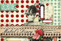 Printable Journal Kits by EVG / Printable journal kits by Ephemera's Vintage Garden. / by Debbie-Anne Parent
