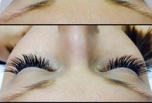 My personal work. / Eyelash extension & makeup  / by Samantha Owens