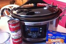 """Crock pot/slow cooker recipes / Hubby is the """"cook"""" in the house and he loves using the crock pot!"""
