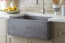 Kitchen & Bar Sinks / See Native Trails' kitchen sinks, bar sinks, and prep sinks  at home in the kitchen or bar.  / by Native Trails