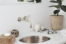 Native Trails in the Bath / Bathroom designs featuring Native Trails' hammered copper sinks, reclaimed wood bathroom vanities, and bamboo bathroom vanities.