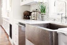 Native Trails in the Kitchen / Great design ideas featuring Native Trails' hammered copper kitchen sinks, bar sinks, prep sinks, and island sinks.