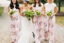 Beautiful Bridesmaids / Group shots featuring unique dress, grooming and floral accent ideas for your bridesmaids.