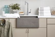 Laundry Rooms & Mudrooms / Photos of functional and stylish laundry room spaces. Designs for custom laundry rooms include utility room sinks and storage.