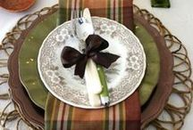 TABLESCAPES / CREATIVE,COLORFUL,AND DECORATIVE TABLE DESIGNS FOR THE HOME AND ALL OCCASIONS   / by Sandy Czarnetzke