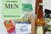 Men / Men love gift baskets as much as women. Here are ideas that make him happy!