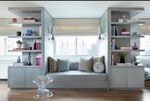 Built-In Features & Nooks / Banquettes, Benches, Shelving solutions / by Heather Ellerbe
