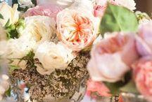 wedding / wedding decor, bridal gowns and hair, floral arrangements