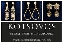 Our Accessories / jewelry, head pieces, veils, and bags available at Bridal by Kotsovos