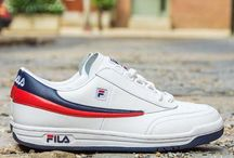Sneakers: FILA / Founded in the Piedmont region of Italy in 1911 by the Fila brothers the company targetted clothes for those hiking in the Alps before moving into sportswear in the 1970s, initially with the endorsement of tennis player Björn Borg. The most famous FILA model being the Overpass.