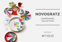 Novogratz Collection @ Macy's / Tabletop Makeover!  Colorful entertaining essentials and cheerful gifting items at Macy's - One of our most exciting collaborations!!! / by The Novogratz